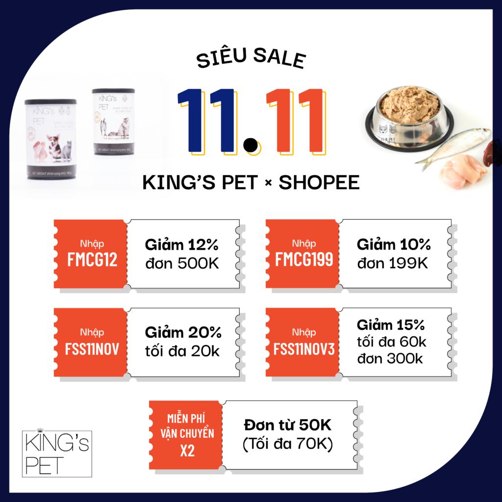 KINGSPET x SHOPEE - SUPER SALE 11.1